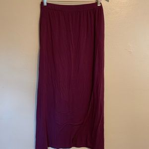 LOFT | Burgundy Knit Maxi Skirt | 14